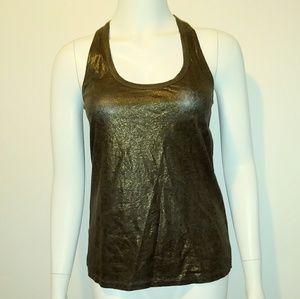 Gold black small ZARA Trafaluc sleeveless blouse